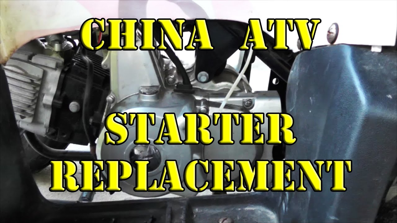 Taotao Starter China Atv Youtube Wire Diagram Tao Ata 110d