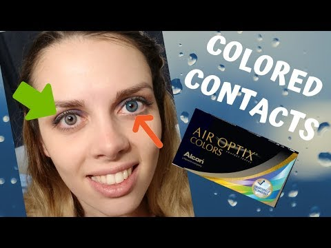 I TRY EVERY AIR OPTIX COLORS - COLORED CONTACT LENSES ON DARK EYES
