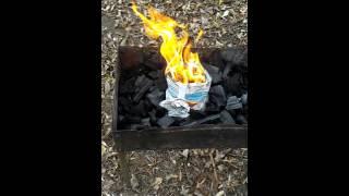 Розжиг углей за 1 минуту! Очень простой способ разжечь костер для мангала!