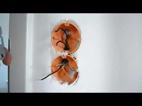 Lichtschalter und Steckdose Kombination anschließen anklemmen - YouTube