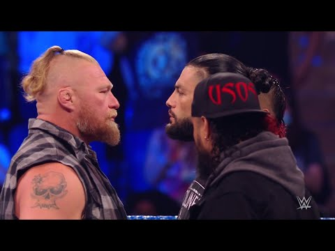 Download Brock Lesnar confronts and attacks Roman Reigns and Paul Heyman - WWE Smackdown 9/10/21