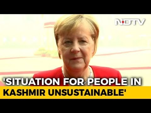 "Situation In Kashmir ""Not Sustainable"", Needs To Change: Angela Merkel"