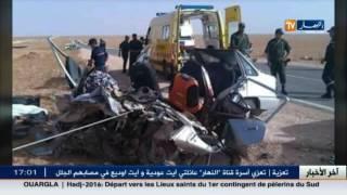 فيديو لحادث مرور مروع خلف 7 قتلى على مستوى الطريق الوطني رقم 22 بالنعامة