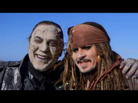 Behind The Scenes on Pirates of the Caribbean 5 - Movie B-Roll & Bloopers - Johnny Depp