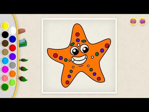 Deniz Yıldızı Boyama Ii çok Eğlenceli Youtube