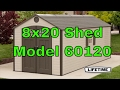 Lifetime 8' x 20' Storage Shed (2 windows) 60120
