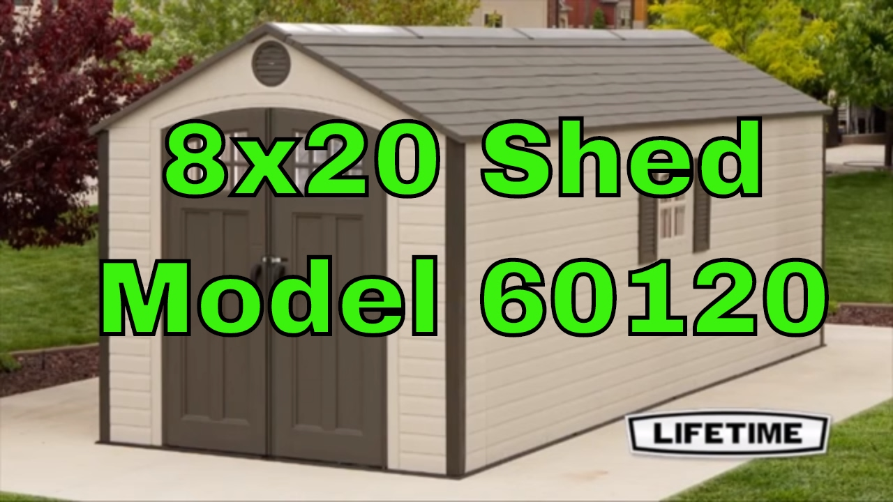 Lifetime 8u0027 X 20u0027 Storage Shed (2 Windows) 60120