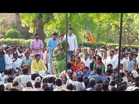 वसुंधरा राजे सिंधिया जीत के बाद  धौलपुर Vasundhara Raje cm Rajasthan