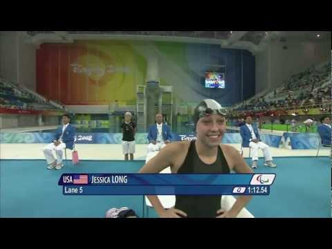 Jessica Long Swimming Womens 100m Butterfly - Beijing 2008 Paralympic Games.mov