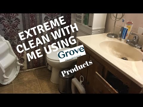 Extreme Clean With Me || Using Grove Collaborative Products ||  Bathroom
