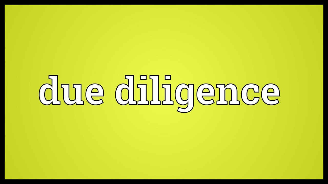 due diligence meaning