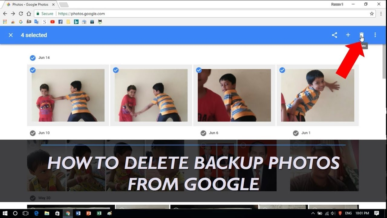 how to delete backup photos from google drive youtube. Black Bedroom Furniture Sets. Home Design Ideas