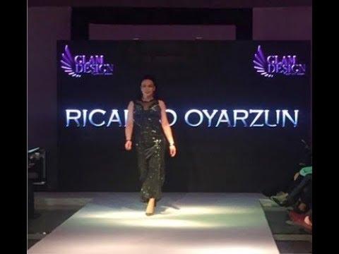 Fernanda Brown desfilando en Fashion week Santiago