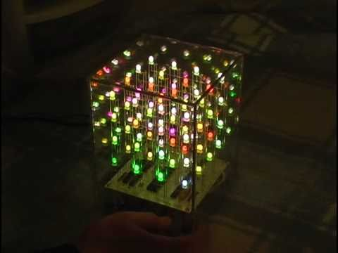 HypnoCube 3D 4X4X4 LED Cube - Custom Animations, Demo, PHP API