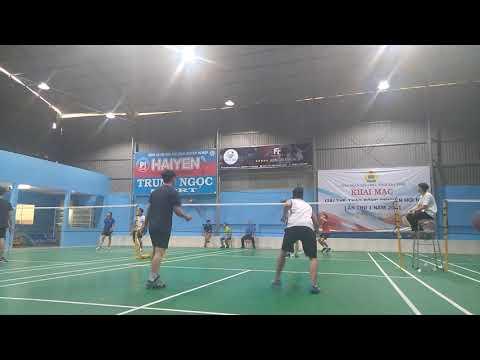 [badminton] Thái/Thiên 14-21 Hoàng/Phương (game1)