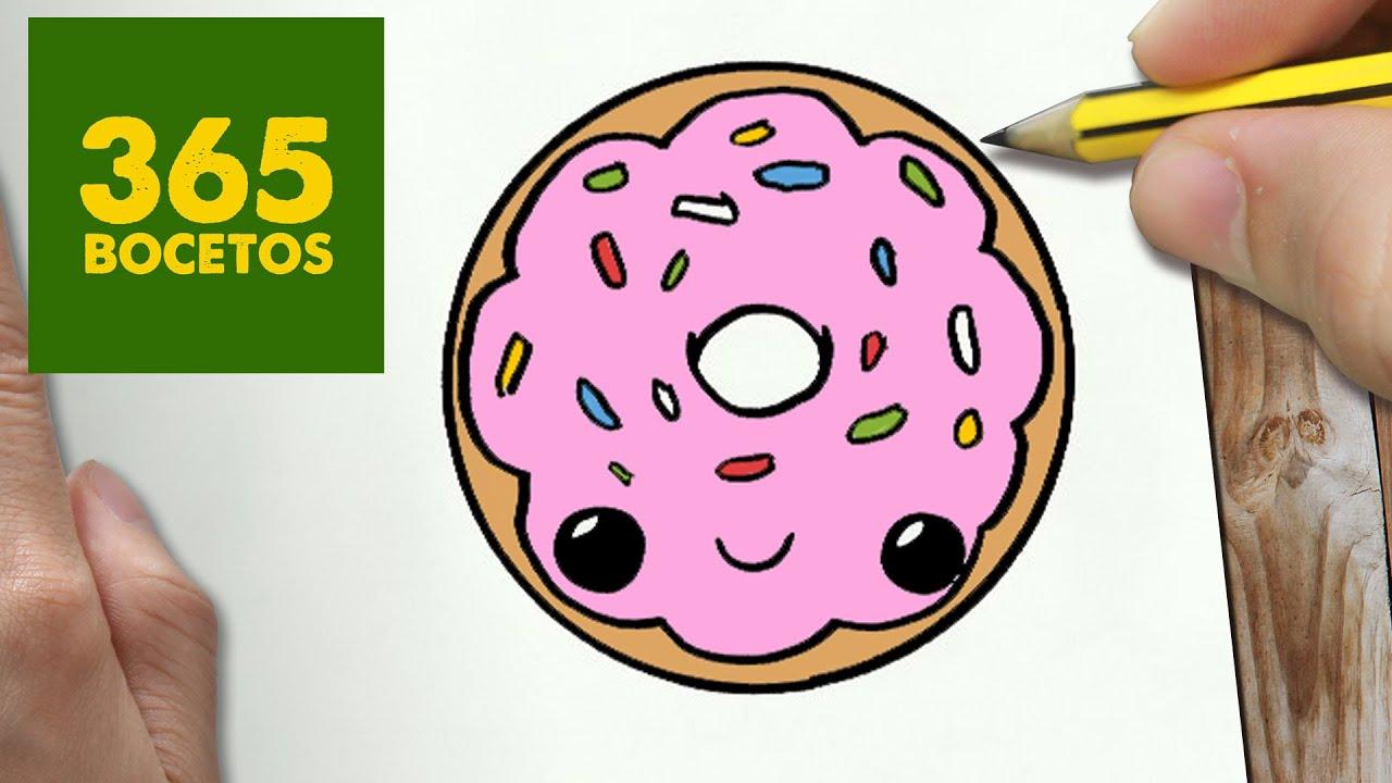 Como Dibujar Donut Kawaii Paso A Paso Dibujos Kawaii Faciles How To Draw A Donut