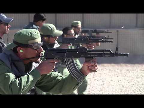 Afghan Police on the AK-47 Firing Range