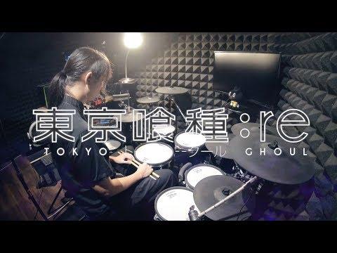 【東京喰種トーキョーグール:re S2 OP 】 Tokyo Ghoul:re season 2 TK from 凛として時雨 - katharsis full Drum Cover フルを叩いてみた