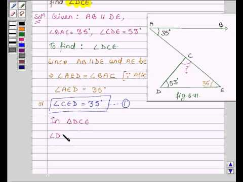 Mathguru – Help – Example:Find Angle Measure using Properties of ...