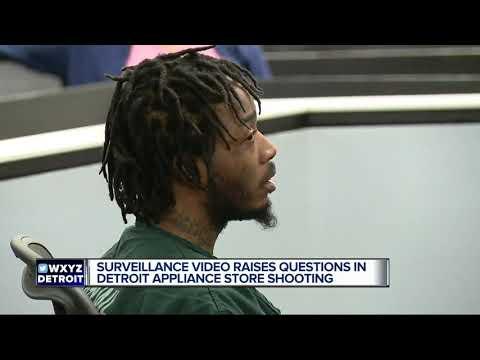 Surveillance video raises questions in Detroit appliance store shooting