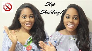 HOW TO STOP YOUR HAIR SHEDDING! | RELAXED HAIR |