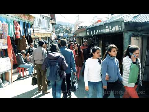 Shimla HD Video,The Ridge,Christ Church & Mall Road Market.Simla,Himachal Pradesh,India.शिमला
