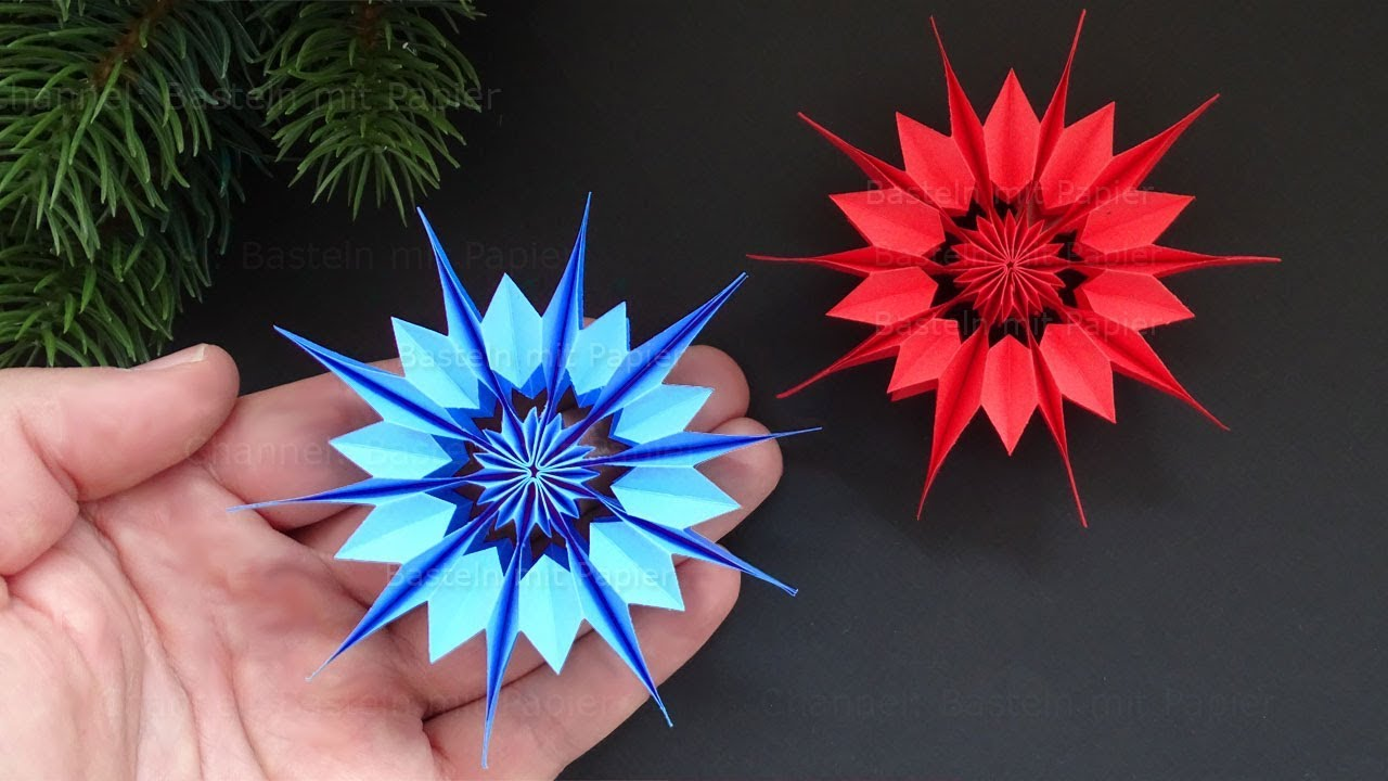 Kreativ Basteln Weihnachten Easy Paper Star For Christmas How To Make A Paper Snowflake