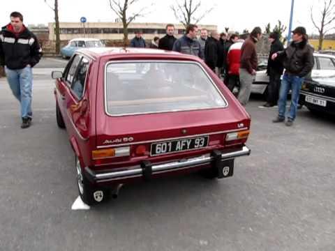 Départ de Jog et de son Audi 50 du salon de Reims