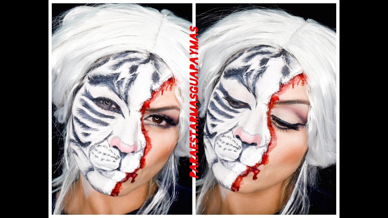 Maquillaje Halloween Tigre Blanco Youtube