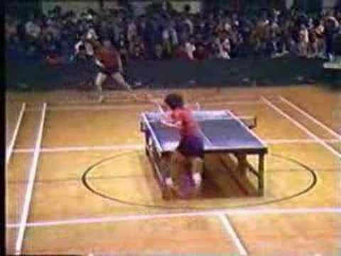 Jackie Chan Playing Ping Pong