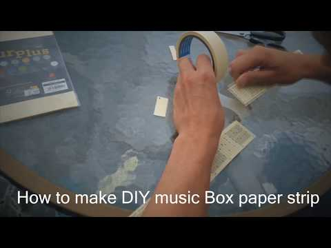 How to make DIY music Box paper strip