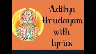 Aditya Hrudayam with Lyrics in English - By Avan Advaitham.
