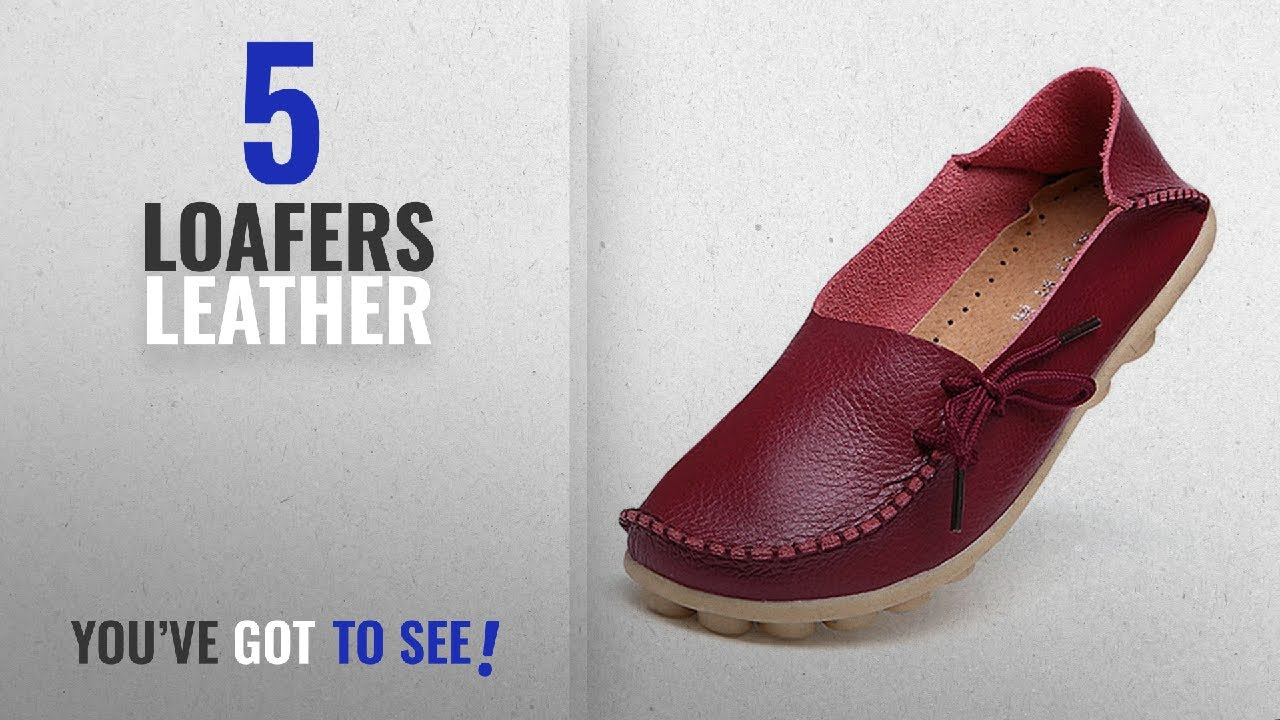 66ff7de5a6b Top 5 Loafers Leather  2018   Women s Leather Loafers Shoes Wild ...