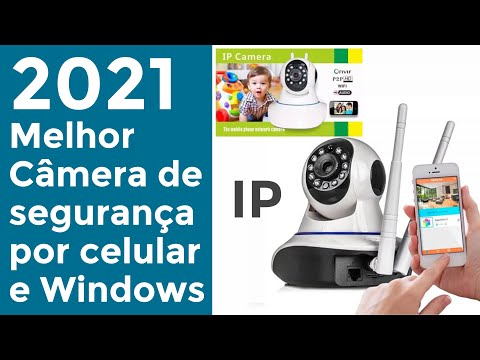 Camera IP P2P HD ONVIF Unboxing and Review Completo