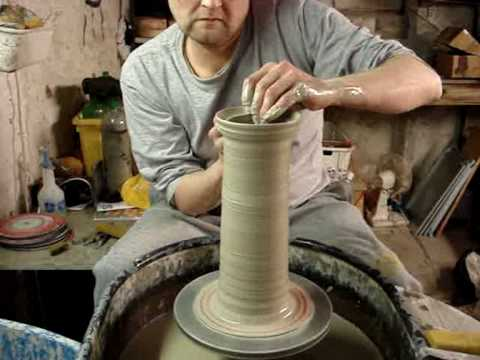 making-a-clay-pottery-spaghetti-jar-and-lid-on-the-wheel-throwing-demo-ingleton-pottery-how-to