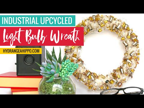 Vintage Light Bulb Wreath