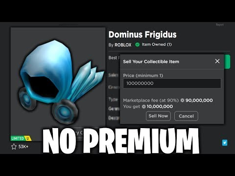 How To Sell Roblox Limiteds Without Premium Youtube