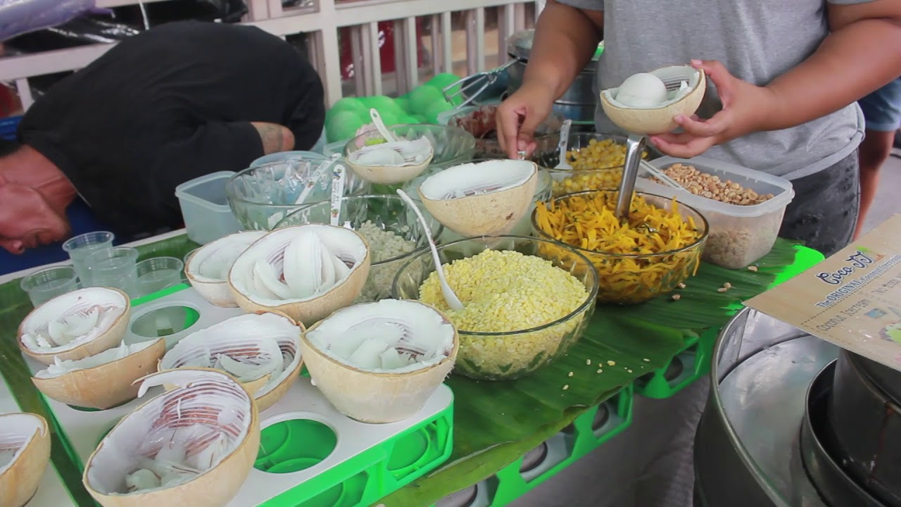 Kem dừa Thái ở Thái Lan ✅ Du Lịch Thái Lan