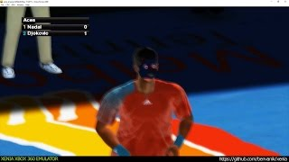 Xenia Xbox 360 Emulator - Virtua Tennis 2009 ingame! (4260e38 May 15 2017)