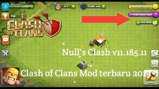 Cara download clash of Clans Mod v11.185.11/Null's Clash Terbaru 2019!!