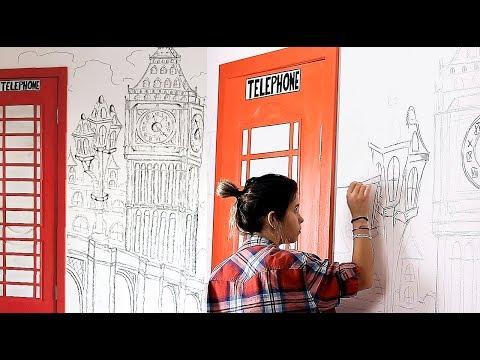 DIY 🎨 РИСУЮ НА СТЕНЕ 🎨| WALL ART| Чем я вдохновляюсь| Fosssaaa