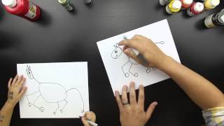 How To Draw A Zebra Just For Kids (easy difficulty)