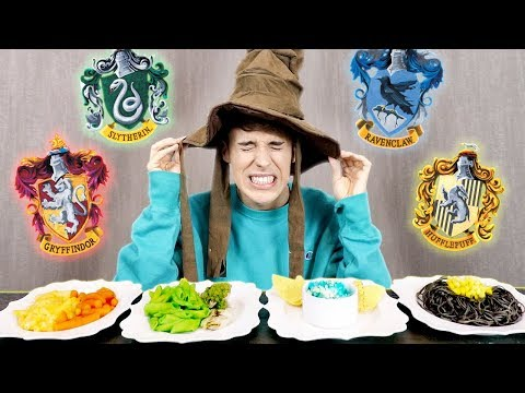 i let the SORTING HAT pick my foods for a day