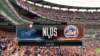 MLB 15 The Show (PS4) - New York Mets Franchise EP19 (NLDS Game 1 vs Dodgers)