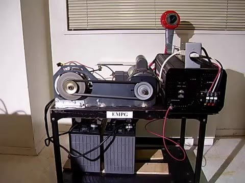 Homemade FREE ENERGY SYSTEM ELECTRO MECHANICAL POWER GENERATOR.