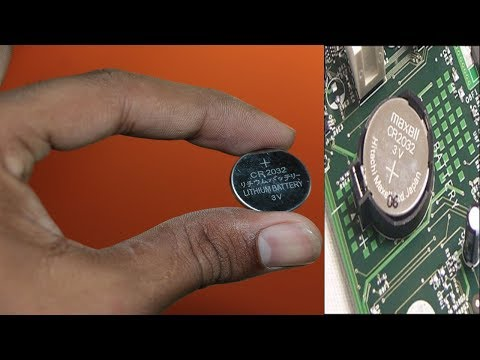 How To Replace Dead CMOS Battery In A Desktop Computer's Motherboard