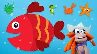 Kırmızı Balık ve Bebek Şarkıları | Kukla ile Çocuk Çizgi Filmleri Bir Arada