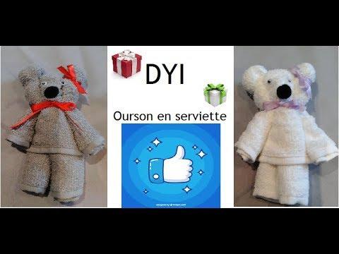 Diy Tuto Petit Ourson En Serviette