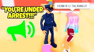 USING RTHRO VOICE CHAT IN ROBLOX! Roblox Admin Commands Cop Trolling!