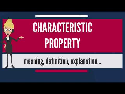 What is CHARACTERISTIC PROPERTY? What does CHARACTERISTIC PROPERTY mean?